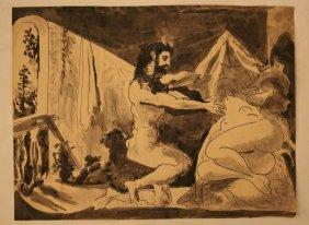 Pablo Ruiz Picasso(1881-1973)faun Denude A Woman,