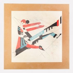 Russian Constructivist 20. Century,couple , Drawing
