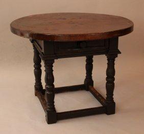 Italian Renaissance Table On Four Truned Feet, With