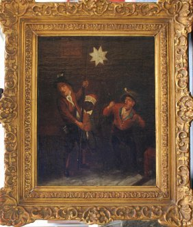 Dutch School 18th Century, Three Starsingers, Oil On