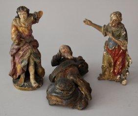 Lot Of Three Baroque Sculptures Containing Three Female