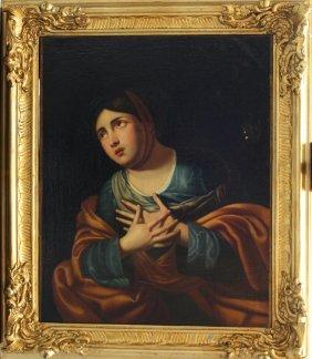 Italian School Around 1800, Portrait Of A Girl, Oil On