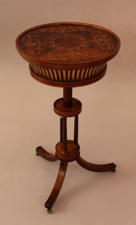 Small French Restauration Needlework Table, On Three