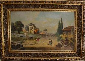 Robert Alott (1850-1910), The Via Appia With Roman