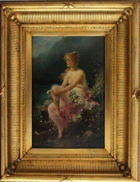 Hans Zatzka (1859-1945), The Danubian Beauty, Oil On