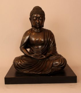 Large Bronze Buddha In Sitting Possition With Open