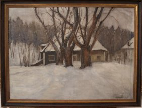 Markovic, Artist Early 20th Century, House In The Snow;