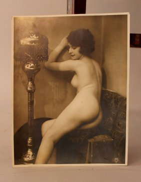 Two Vintage Erotic Photographs Of Two Women In Oriental