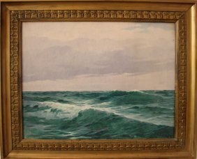 Max Jensen (born 1860 In Berlin), Sea View, Oil On