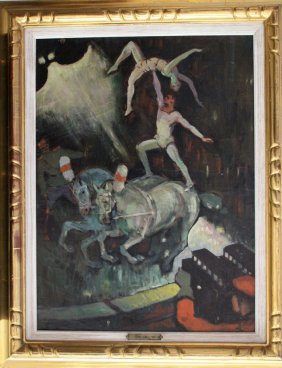 Kees Van Dongen (1877-1968)-attributed, Artistic Circus