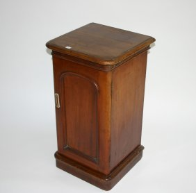A Mahogany Bedside Cupboard, Victorian, The Moulde
