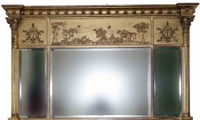 An Attractive Gilt Overmantel, Regency Period, The