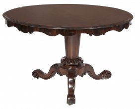 A Circular Rosewood Breakfast Table, Victorian, Th