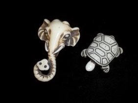 Turtle Elephant Pendants