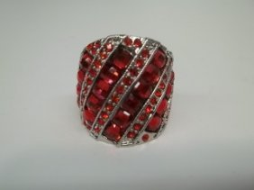 Ruby Red Rhinestone Ring