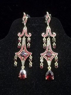 Ruby Red Chandelier Earings