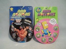 1990 Rad Rollers Simpsons & WWF Lot MOC