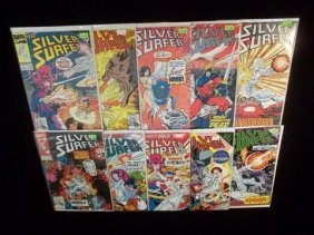 10 Silver Surfer Comic Books VF-NM