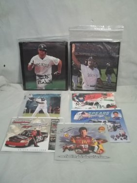 Autographed Baseball & Racing Lot Bichette, Baylor M