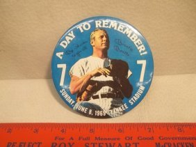 1969 Vintage Mickey Mantle Pinback Button