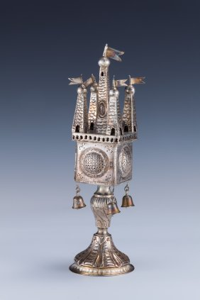 A SILVER SPICE TOWER. Germany, C.1900.