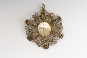 A SILVER AMULET. Italian, 18th Century. Completely Made