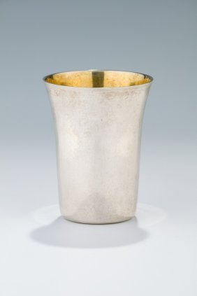 A Rare And Important Sterling Silver Kiddush Cup By