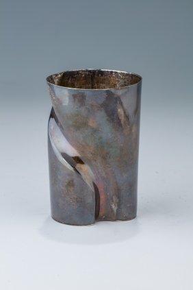A Sterling Silver Kiddush Cup By Ari Ofir. Israel,