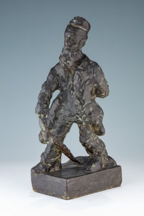 A Bronze Sculpture By Mane Katz. (ukrainian, 1984-1962)