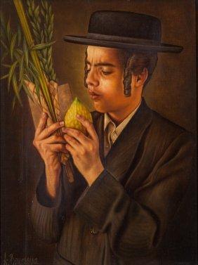 An Oil Painting By Albert Benaroya. Israel, Modern.