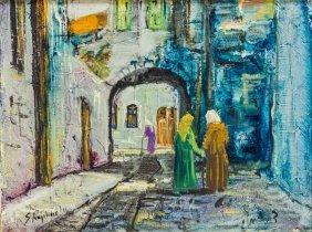 An Oil Painting On Canvas By Zvi Raphaeli. Israel, C.