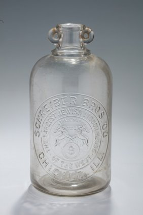 An Early Jewish Wine Bottle From The Schreiber Brothers