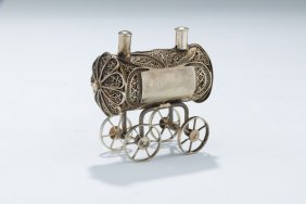 A Small Silver Spice Container. Poland, C. 1880. In The