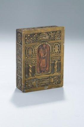 A Hand Chased Judaic Keepsake Box. Possibly Palestine,