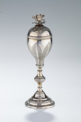 A Large Silver Spice Container. Poland, C. 1830.