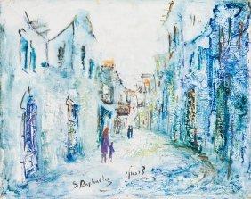 A Painting By Zvi Raphaeli. Israel, C. 1960. Oil On