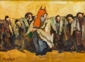 A Painting By Adolf Adler. Roumanian/israeli,