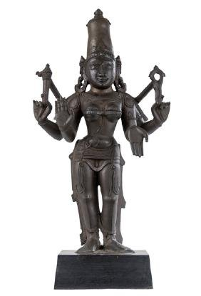 Indian Bronze Of A Deity