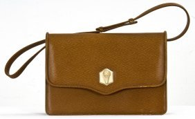 KIESELSTEIN-CORD BROWN LEATHER SHOULDER BAG