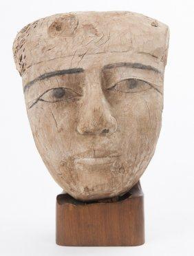 Egyptian Wood Mummy Mask
