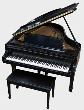 Steinway & Sons Ebony Case Grand Piano
