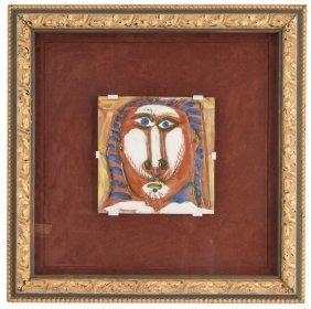 """Pablo Picasso: """"tete D'homme Aux Cheveux Longs"""""""