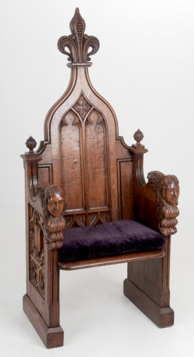 Franco-flemish Carved Throne Chair