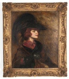 """After John Singer Sargent: """"portrait Of Mrs. Cora Brown"""