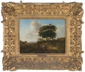 """George Lambert: """"landscape With Figures & Herd"""""""