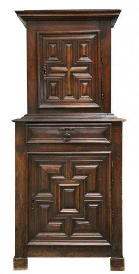 Henry Ii Walnut Cupboard