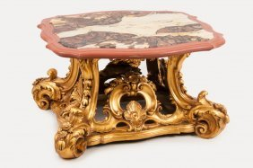 Italian Baroque Style Carved & Giltwood Center Table