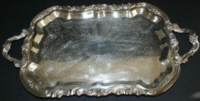 Ornate F.B. Rodgers Silver Co. Silverplate Handled