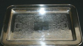 """Footed Silverplate Tray.  13 1/2""""L."""