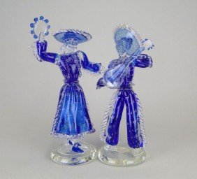 ANTIQUE MURANO LARGE SPANISH COUPLE